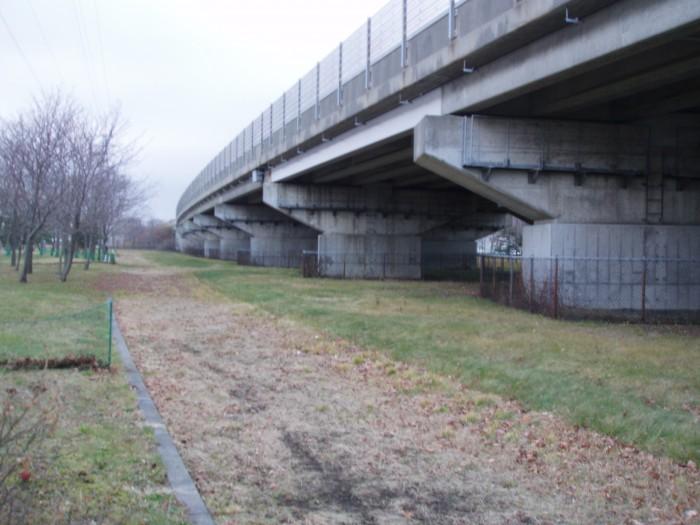 高丘橋工事を承りました。
