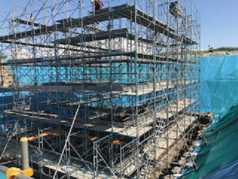江別太遊水地西13号橋工事を承りました。