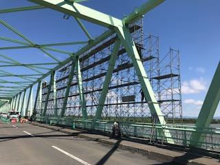 石狩大橋工事を承りました。